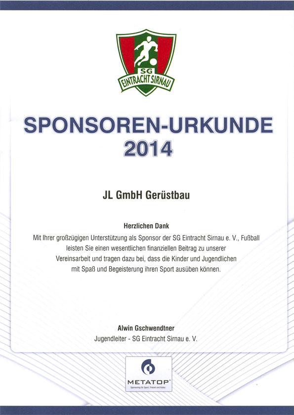 Sponsoring - JL GmbH Gerüstbau